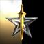 Golden sword over star