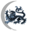 Moon Dragon at the starry sky