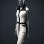Women's 'Structure' Dress (black/white)