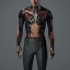 Men's 'RubySet TorsoRig' Body Augmentation